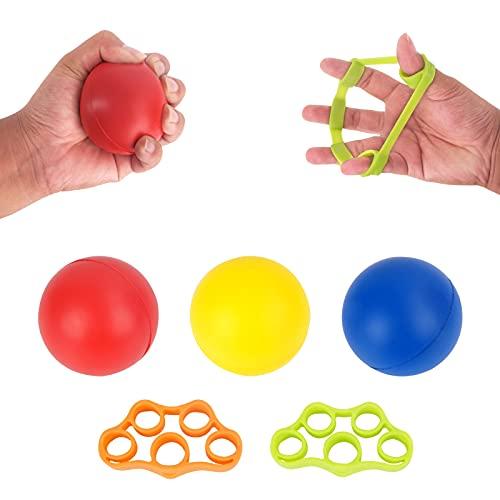 ansd 5 Stück Ball für die Hand, Handgriffbälle, fingertrainer Ball, zum Druckentlasten, zur Stärkung von Händen und Fingern und zur Linderung von Gelenkschmerzen