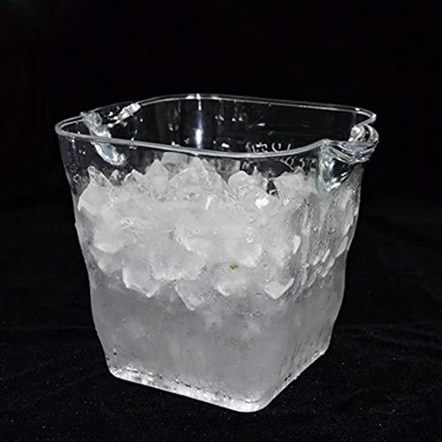 Cubo de hielo para vino, para el hogar, boda, al aire libre, 20 x 25 cm, 5 L, transparente, para champán, cerveza, vino, bebidas (color: transparente)