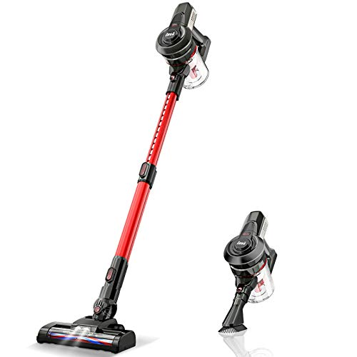 Cordless Vacuum Cleaner Handy and Extendable, Lightweight Quiet Powerful Suction 160W, Rechargeable Stick Handheld Vac, 2 Speed Modes for Pet Hair Hardwood Floors Carpet - INSE N6