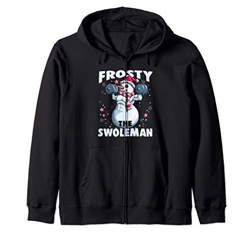Frosty the Sholeman Divertido levantamiento de pesas Fitness Sudadera con Capucha