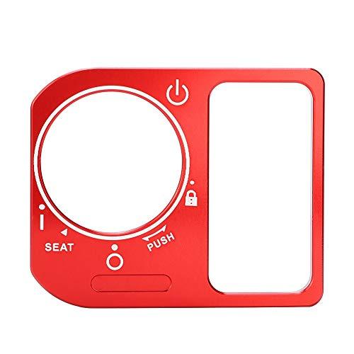 SANON Motorrad CNC Aluminiumlegierung Elektroschloss Schalter Abdeckung Rahmen für Honda Click (Rot)