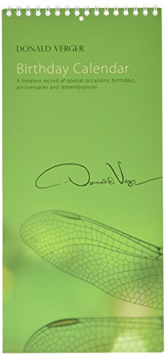 Donald Verger Photography Dragonfly Birthday and Anniversary Perpetual Calendar. Wall or Desk. 11x5.