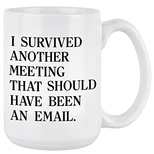 Email Mug I survived another meeting that should have been an email The Office Mug inspirational Mug...