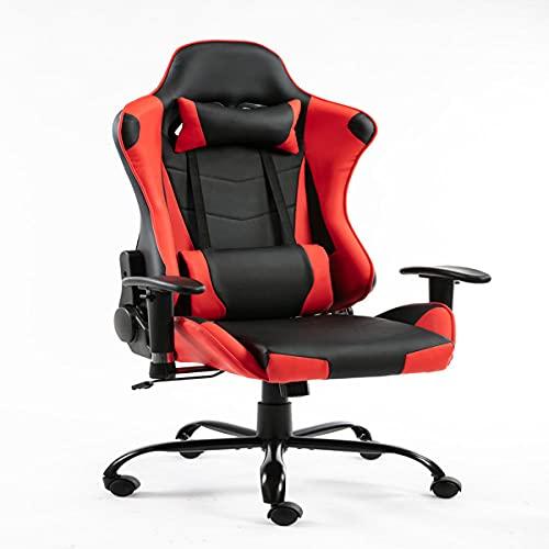 Avv Gaming Stuhl Racing Stuhl Gaming Sessel mit verstellbare Armlehne Kopfstütze und Schreibtischstuhl Sportsitz mit Kopfstütze und Lendenkissen