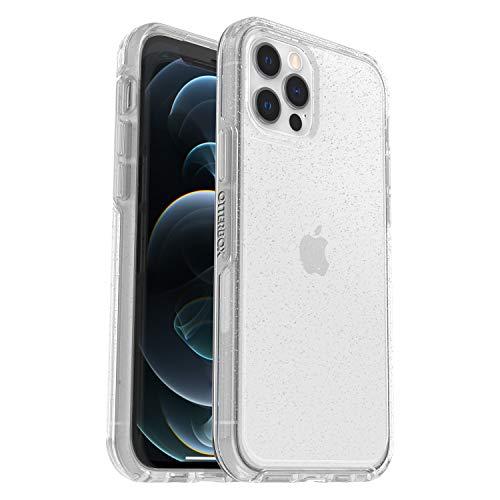 OtterBox Symmetry Clear - sturz- und stossgeschützte, elegante, transparente Schutzhülle für Apple iPhone 12 / 12 Pro, transparent/glitzer