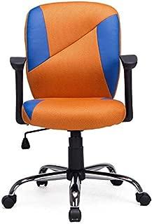 Ergonomic Mesh Office Chair Task Chair Swivel Computer Desk Chair(Orange&Blue)