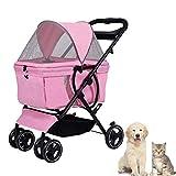 Faltbare Hundebuggy Hundewagen Kinderwagen Bis 20 Kg, Für Kleine Mittelgroße Hunde Und Katzen,Welpe Buggy Hundebuggy