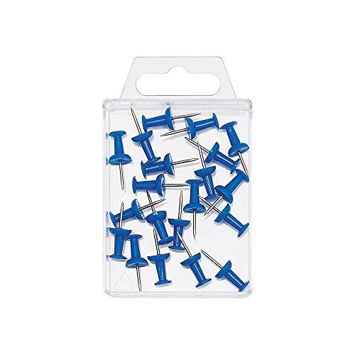 Wedo 054103 - Pack de 20 agujas para tablero, color azul