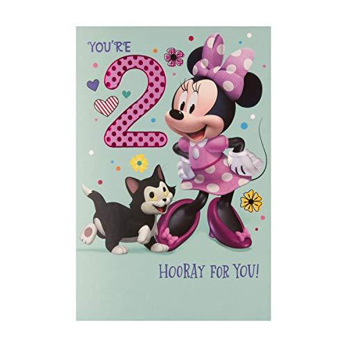 Biglietto Di Compleanno Per 2 Anni Di Hallmark, Motivo: Minnie Mouse