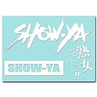 絵柄だけ残る ステッカー M 「SHOW-YA」 白 057W