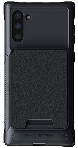 Ghostek Exec Galaxy Note 10 Wallet Case Card Holder with Built-in Magnet for Car Mounts and Easily Detachable Leather Card Pocket for Wireless Charging - Samsung Galaxy Note10 (6.3 Inch) - (Black)