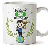 Mugffins Zio Tazza/Mug – Migliore Zio del Mondo - Idea Regalo Originale di Compleanno - Tazza Miglior Zio in Ceramica. 350 ml