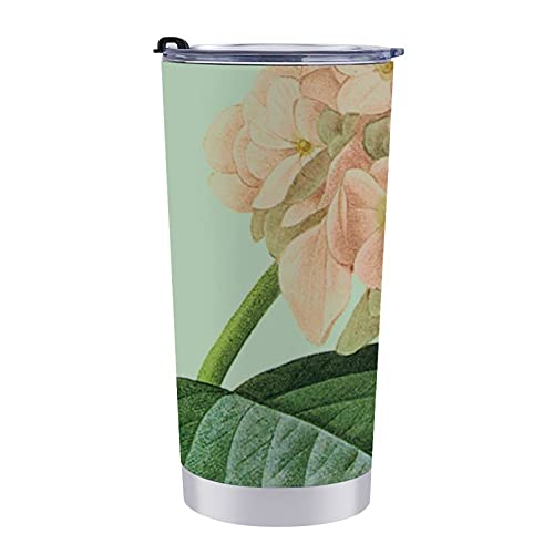 Taza de café Pierre Redoute Hortensia, taza de viaje de acero inoxidable, taza de café para coche, taza térmica de acero inoxidable para té caliente y bebidas frías