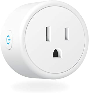Aoycocr Wifi Smart Plug, Energy Saving Wireless Mini Smart Socket with Timer, No Hub Required, Compatible with Alexa, Google Home & IFTTT, ETL Listed, White (1 Pack)