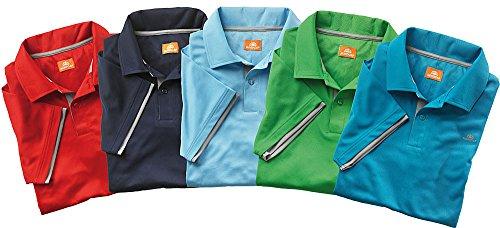 Nordcap Poloshirts/Funktionsshirts, 5er Pack hochwertige Herren Kurzarm-Polos (Größen: M - XXXL, Farben: Rot, Hellblau, Dunkelblau, Grün, Schwarz)