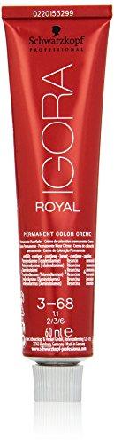 Schwarzkopf IGORA Royal Premium-Haarfarbe 3-68 dunkelbraun schoko rot, 1er Pack (1 x 60 g)