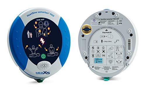 MedX5 PAD360P 8 Jahre Herstellergarantie, Defibrillator AED, vollautomatischer Defibrillator mit HLW Unterstützung