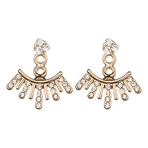 ENCY Pendientes de mujer de plata con forma de gota, para mujer, regalo de joyas, regalo de fiesta, joyas para mujer Colours & Beauty – Pendientes de hombre con aro de plástico dorado Talla única