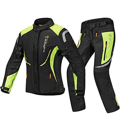 LITI Damen Motorradkombi Jacke Und Hose Mit CE Protektoren Textil Wasserdicht Winddicht Für Roller Biker Touren