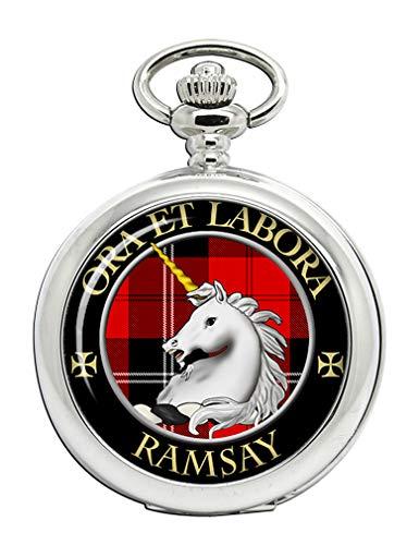 Ramsay Clan Escocés Escudo Full Hunter reloj de bolsillo
