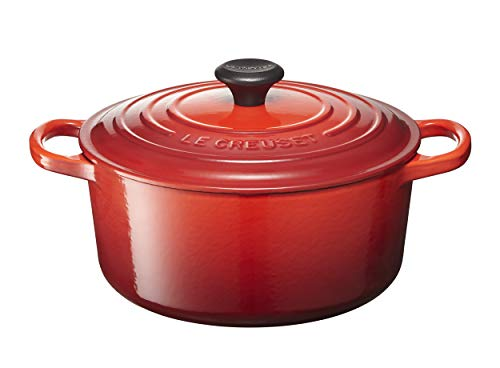 Le Creuset Signature Enameled Cast Iron Round French (Dutch) Oven, 3 1/2 quart, Cerise