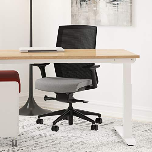 AMQ ZILO Ergonomic Office Chair, Grey/Fabric Seat