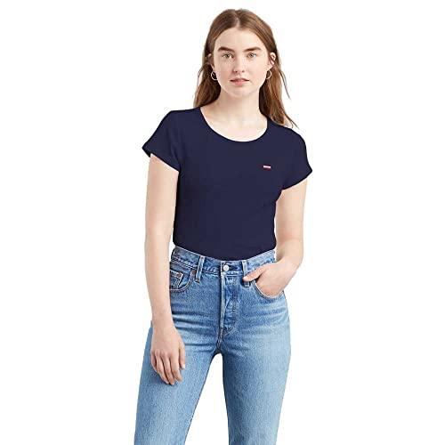 Levi's Shirt, 2 Pack Tee Smokestack & Sea Capitan Blue, M Femme