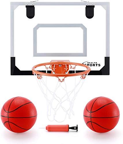 KeepRunning Indoor Mini Basketball Hoop and Balls 16' x 12' - Basketball Hoop Set for Door - Indoor Mini Basketball Game for Kids
