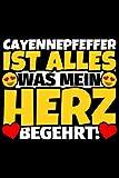 Notizbuch liniert: Cayennepfeffer Geschenke für Cayennepfeffer-Liebhaber lustig