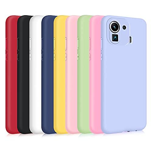 9X Cover per Xiaomi Mi 11 PRO, Custodia Morbido Silicone Ultra-Sottile TPU Tinta Unita Anti-Graffio Paraurti Protettiva Flessibile Gomma Case - 9 Colori