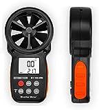 LHY Herramienta Medidor de Velocidad de Velocidad Digital Medidor de Aire Flujo de Aire Velocity Medición Termómetro para Kite de Windsurfing Volando navegando Pesca de Surf medición