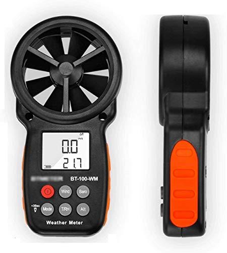 XINGDONG Medidor de Velocidad de Velocidad Digital Medidor de Aire Flujo de Aire Velocity Medición Termómetro para Kite de Windsurfing Volando navegando Pesca de Surf Portátil