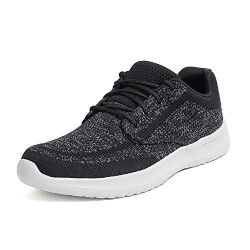 Bruno Marc Men's Fashion Sneakers Lightweight Breathable Walking Shoes Walk-Easy-02 Black Grey Size 7 M US