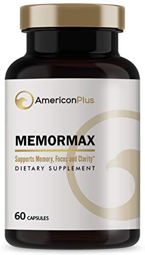 Memormax Brain Supplement for Memory, Focus & Mental Clarity with Ginkgo Biloba, Bacopa, Alpha GPC, DMAE, Phosphatidylserine, L Carnitine, Huperzine A; 60 Caps