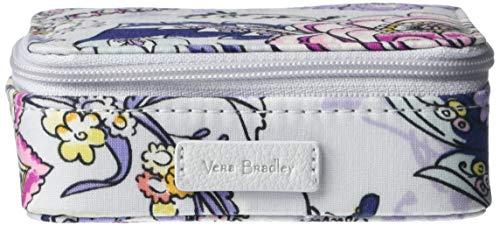 Vera Bradley Women's Iconic Signature Cotton Travel Pill Case, Hummingbird Park, One Size