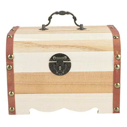 Caja de Almacenamiento de Joyería Vintage Cofre del Tesoro Antiguo Caja de Almacenamiento de Juguetes de Joyería Decorativa Cofre Pirata Muy Adecuado para Organizar Una Búsqueda del Tesoro(M)