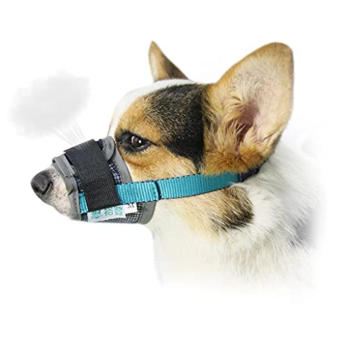 URUNI Hund Mundschutz Bark-Proof Hundemaulkorb Einstellbare Haustier Hund Mundschutz Breathable Ineinander Greifen Hundezubehör (Größe : 3#)