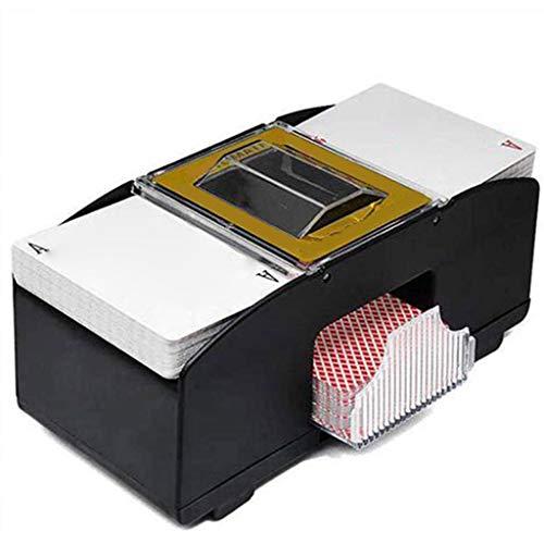 LWQ Automatische Poker-Kartenmischer, Holz Elektrische Poker Card Shuffling Maschine Automatische Batteriebetriebene Spielkarten Karten Mischen