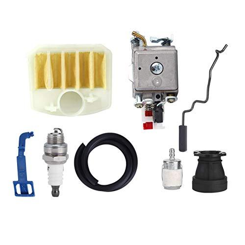 Leylor Kit de carburador-Kit de bujías de carburador, Ajuste de Repuesto para 350 346XP 353340345 Herramienta de jardinería