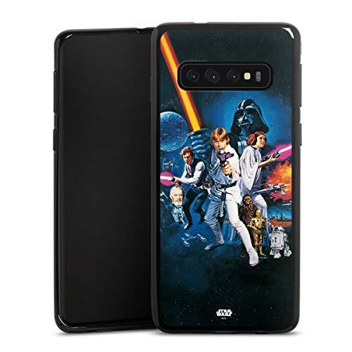 DeinDesign Silikon Hülle kompatibel mit Samsung Galaxy S10 Case schwarz Handyhülle Fanartikel Star Wars Episode IV