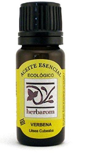 HERBAROM Aceite Esencial Bio de Verbena   Aceite Esencial Puro de Verbena, Antiinflamatorio, Circulatorio, 10 ml