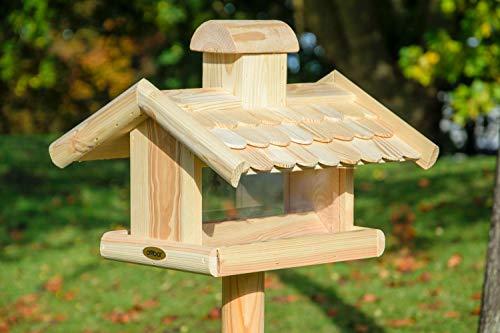 dobar 21277e Klassisches Vogelhaus groß aus Holz mit Futter-Silo, 38 x 38 x 30 cm - 5