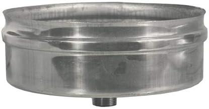 diametro 130 mm acciaio inox Articolo fumisteria Linea Legna e pellet:tappo cieco raccogli condensa spessore 0,5 mm