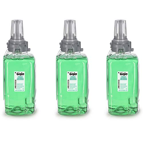 GOJO Botanical Foam Handwash, EcoLogo Certified, 1250 mL Hand Soap Refill for GOJO ADX-12 Touch-Free Dispenser (Pack of 3) - 8816-03,Green