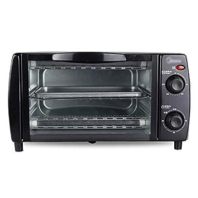 LQRYJDZ Oven, Electric Mini Oven - Household All Steel 10l Multi-Function Black Baking Precision Temperature Control Mini Electric Oven, 37.6x28.7x20.7cm Toaster Oven (Color : Black),Colour:Black
