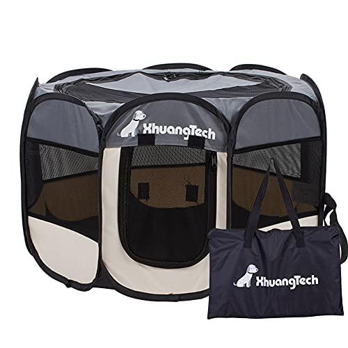 XianghuangTechnology Laufstall für Hunde und Katzen, weicher Stoff, tragbar, faltbar, für den Innen- und Außenbereich