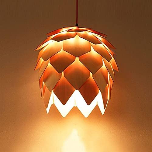YAN FEI Accesorio de iluminación Madera Pinecone Colgante Creativo Colgante Luz Ajustable E27 Brillante Araña Estilo Moderno Estilo Decoración Lámpara Colgante Lámpara Inicio Iluminación Drop Light