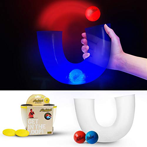 pindaloo Skill Toy +2 Led Light Up Balls. Challenged and Excited Gift for Teens and Kids. Lots of Fun, for Indoor and Outdoor Play.