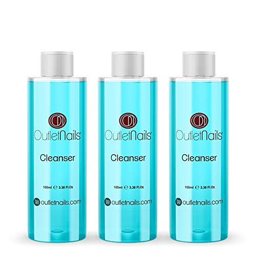 3 x Cleaner 100ml Dégraissant Blue pour faux ongles gel - cleaner vernis semi permanent