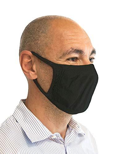 Relaxsan - Satz 3 STK. [Schwarz] Filterbänder fürs Gesicht, Mund, Nase - aus wiederverwendbarem waschbarem absorbierendem bakteriostatischem Gewebe